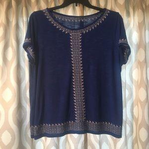 RAFAELLA Royal Blue Blouse Size XL